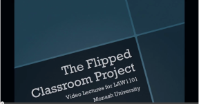 Law, Flipped, blended learning, media,